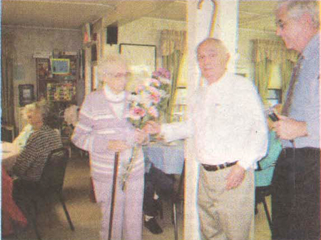 Kay Silloway Receives Boston Post Cane